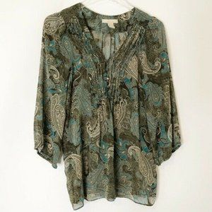 Banana Republic Sheer Blouse M Medium